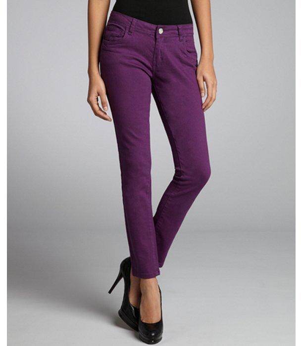 Romeo & Juliet Couture plum stretch denim skinny jeans
