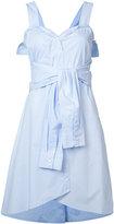 Derek Lam 10 Crosby front knot dress - women - Cotton - 4