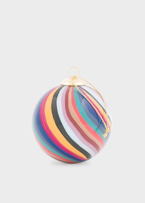 Paul Smith Hand-Painted Swirl Glass Bauble