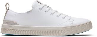 Toms White Leather TRVL Lite Low Women's Sneakers