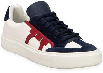 Salvatore Ferragamo Men's Borg 17 Lace-Up Sneakers
