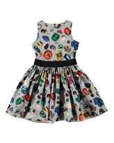 Molo Carli Sleeveless Gemstone Dress, Gray/Multicolor, Size 2-12