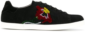 Emporio Armani Flower Embroidered Sneakers
