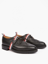 Thom Browne Strap-Detail Leather Longwing Brogues