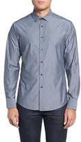 Vince Camuto Men's Trim Fit Print Sport Shirt