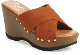 Callisto &Cinnamon& Crisscross Platform Wedge Sandal (Women)