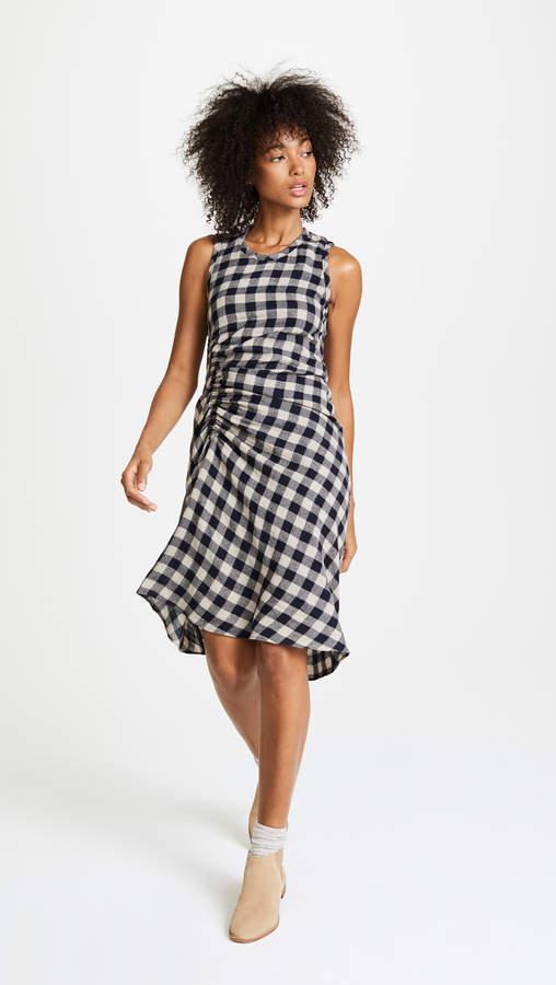 James Perse Spiral Shirred Dress