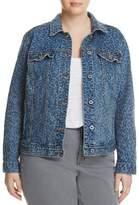Lucky Brand Womens Plus Denim Trucker Jacket