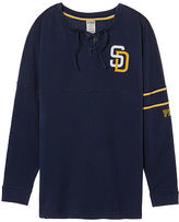 PINK San Diego Padres Bling Lace-up Varsity Crew