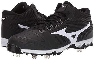 Mizuno 9-Spike Ambition Mid (Black/White) Men's Shoes