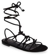 Rebecca Minkoff Women's Elyssa Lace-Up Flat Sandal