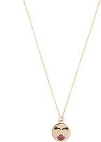 Alison Lou Ruby & yellow-gold Mwah necklace