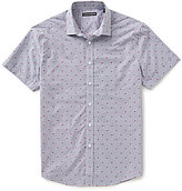 Vince Camuto Slim-Fit Short-Sleeve Printed Woven Shirt