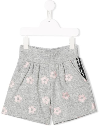 Little Marc Jacobs Floral Print Fitted Shorts