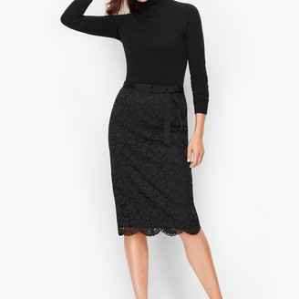 Talbots Floral Lace Pencil Skirt