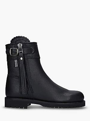 Penelope Chilvers Leather Cropped Tassel Boots