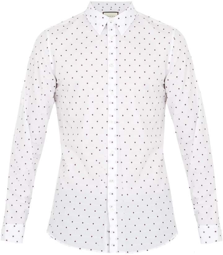 Gucci Geometric fil coupé cotton shirt