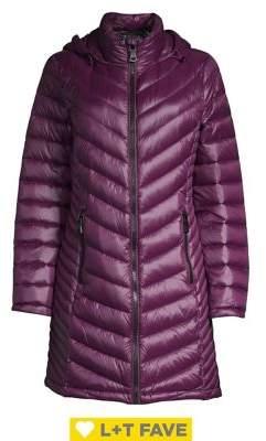 Petite Long Packable Puffer Coat