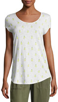 Soft Joie Jeslyn B Pineapple Cotton Top, White