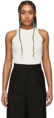 Ami Alexandre Mattiussi Off-White Cotton Tank Top