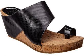 Donald J Pliner Gemmy Leather Wedge Sandal