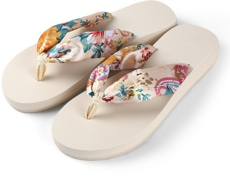Aerusi Saki Floral Flip Flop Sandals