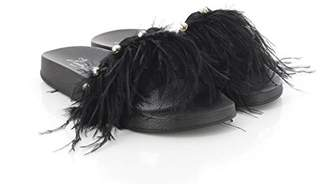 KOALA BAY Women's Klassa Open Toe Sandals, Black (Negro 002)