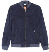 BOSS ORANGE Men's Suede Bomber Jacket