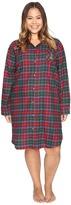 Lauren Ralph Lauren Plus Size Brushed Twill Sleepshirt