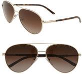 'Tubular' Metal Aviator Sunglasses