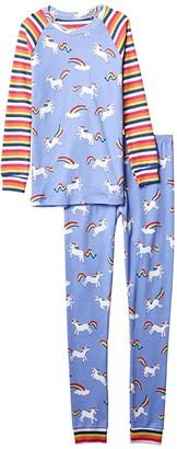 Hatley Rainbow Unicorns Raglan PJ Set (Toddler/Little Kids/Big Kids) (Purple) Girl's Pajama Sets