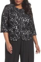 Alex Evenings Plus Size Women's Lace Jacket