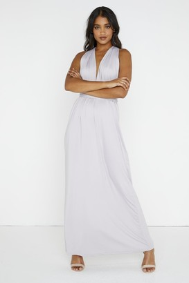 Girls On Film Whisper Multiway Grey Maxi Dress