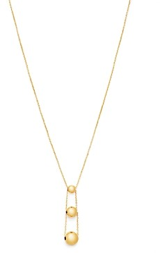 Bloomingdale's 14K Yellow Gold Graduated Bead Drop Necklace, 16 - 100% Exclusive
