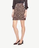 Ann Taylor Spotted Jacquard Skirt