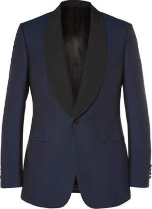 Kingsman Navy Slim-Fit Wool And Mohair-Blend Shawl-Collar Tuxedo Jacket
