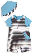 Offspring Babys Three-Piece Dino Shortall, T-Shirt and Hat Set