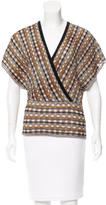 M Missoni Metallic Knit Top
