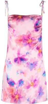 Frankie's Bikinis Margrette tie-dye mini slip dress