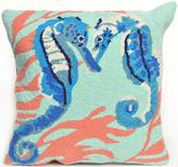 "Seahorse 18"" Square Outdoor Pillow"