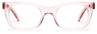 Caddis Bixby Glasses in Polished Clear Pink