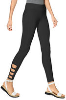 Hue Ankle Detail Cotton Blend Skimmer Leggings