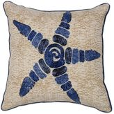 Kas Beaded Starfish Square Throw Pillow in Natural