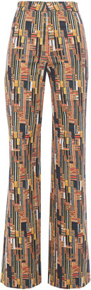 Stella Jean Printed Stretch-cotton Straight-leg Pants