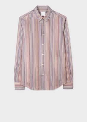 Paul Smith Men's Slim-Fit Signature Stripe Cotton Shirt