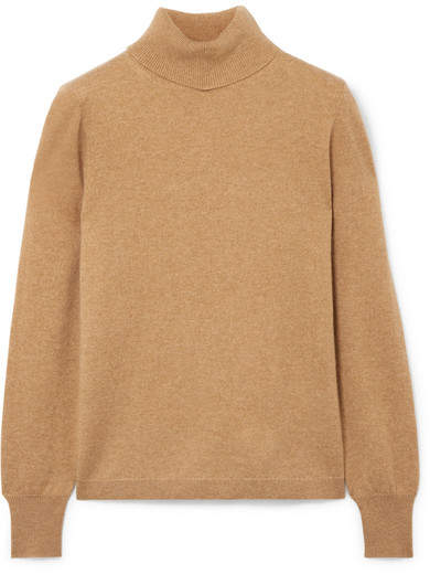 J.Crew Layla Cashmere Turtleneck Sweater - Camel