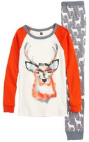Tea Collection Toddler Boy's Red Deer Fitted Two-Piece Pajamas