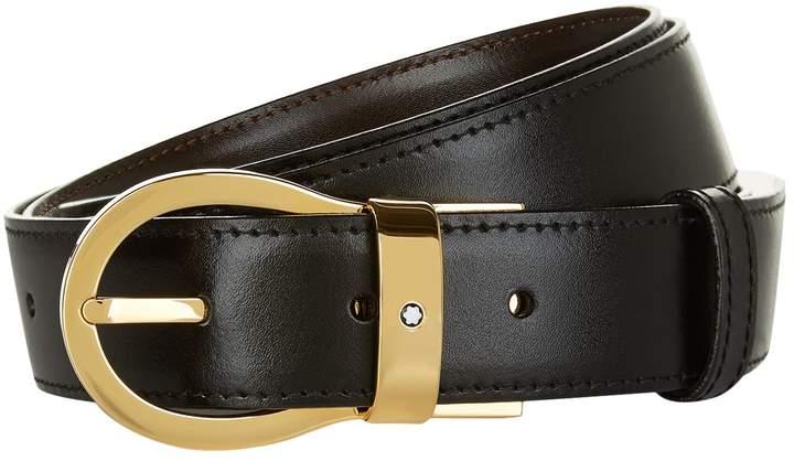 Montblanc Reversible Gold Buckle Belt
