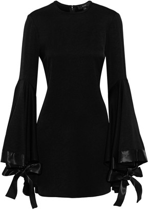Ellery Nemesis Bow-detailed Satin-crepe Mini Dress
