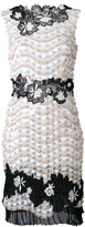 Talbot Runhof embellished floral shift dress - women - Polyamide/Polyester - 34